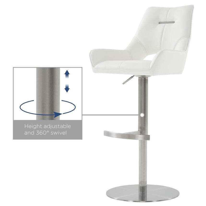 Kalia II White Adjustable Stool  alternate image, 10 of 10 images.