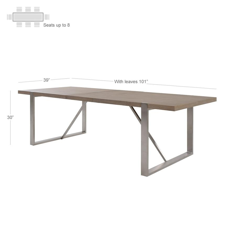 Gage Extendable Dining Table  alternate image, 3 of 6 images.