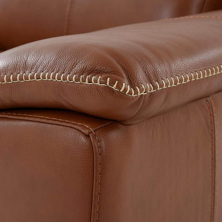 Katherine Tan Leather Power Reclining Loveseat  alternate image, 8 of 10 images.