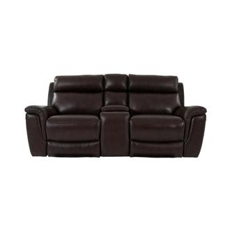 Bronco Leather Power Reclining Sofa w/Console