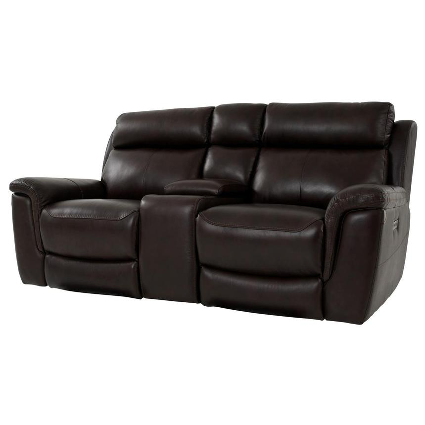 Bronco Leather Power Reclining Sofa w/Console  alternate image, 2 of 12 images.