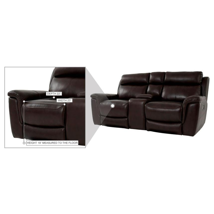 Bronco Leather Power Reclining Sofa w/Console  alternate image, 12 of 12 images.