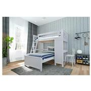 Haus White Twin Over Twin Bunk Bed w/Desk  alternate image, 2 of 11 images.