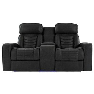 Brandon Power Reclining Sofa w/Console