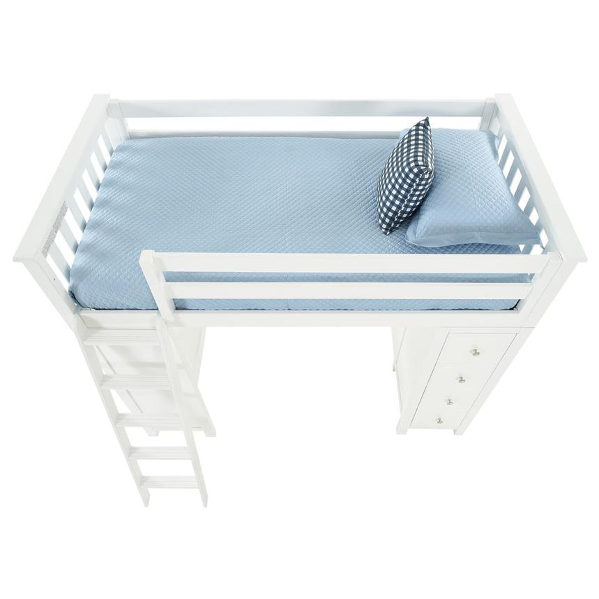 Haus White Twin Loft Bed w/Desk & Chest  alternate image, 8 of 15 images.
