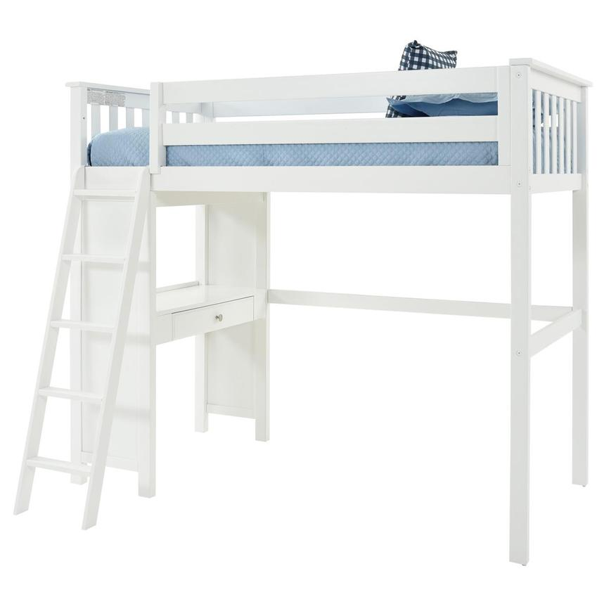Haus White Twin Loft Bed w/Desk  alternate image, 3 of 11 images.