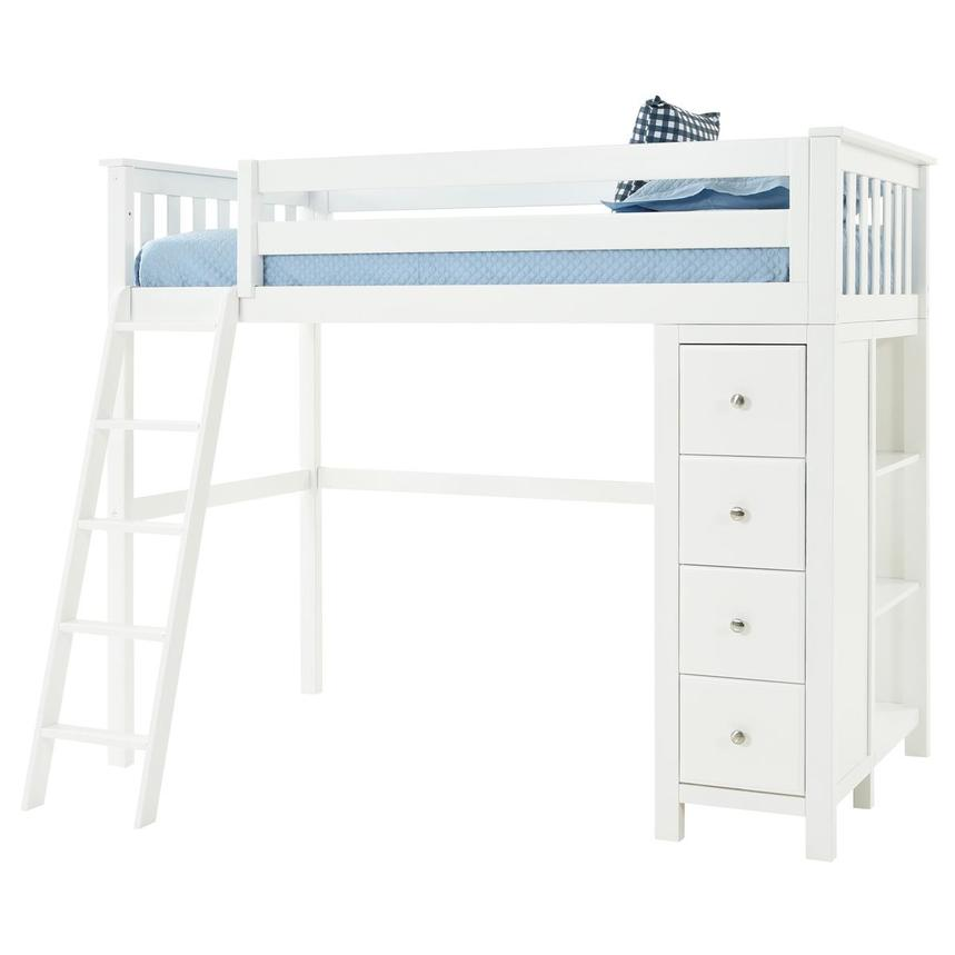 Haus White Twin Loft Bed w/Chest  alternate image, 3 of 13 images.