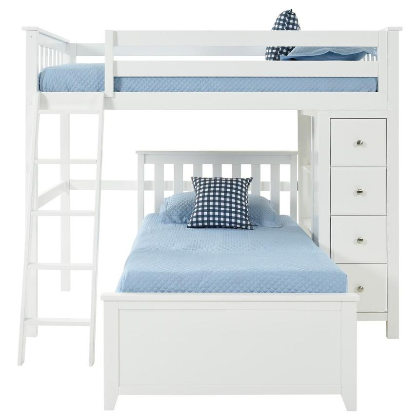 Haus White Twin Over Twin Bunk Bed w/Chest  alternate image, 3 of 9 images.
