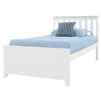 Haus White Twin Panel Bed