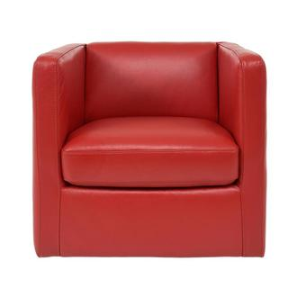 Cute Red Leather Swivel Chair