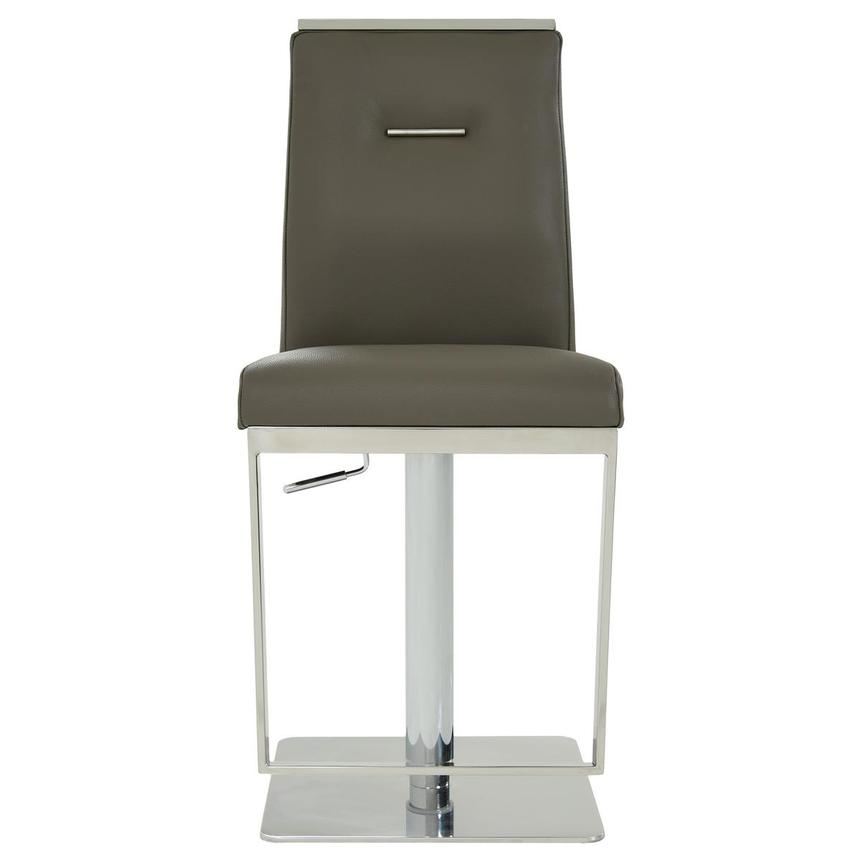 Hyde II Gray Leather Adjustable Stool  alternate image, 2 of 8 images.