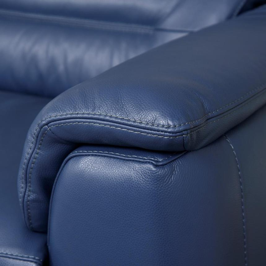 Anabel Blue Leather Power Reclining Sofa  alternate image, 8 of 10 images.
