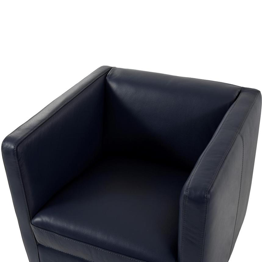 Cute Blue Leather Swivel Chair  alternate image, 5 of 8 images.