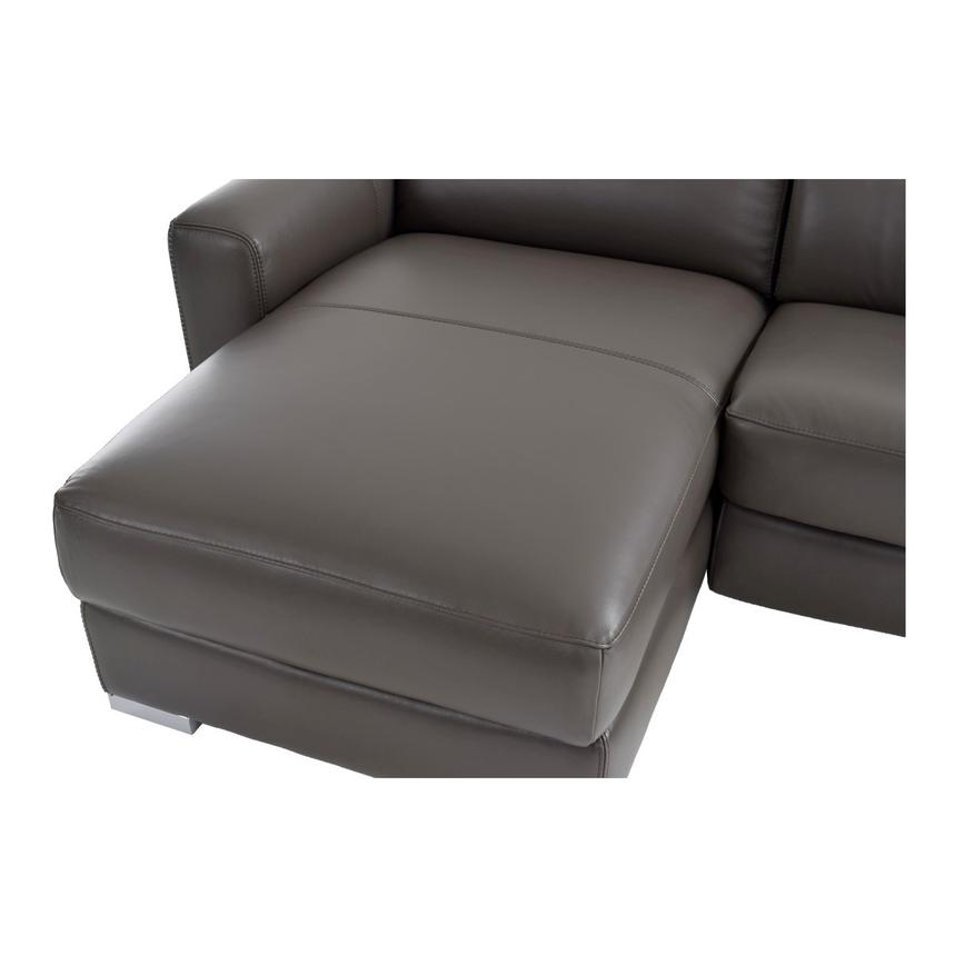 Bay Harbor Gray Leather Sleeper w/Left Chaise  alternate image, 8 of 9 images.