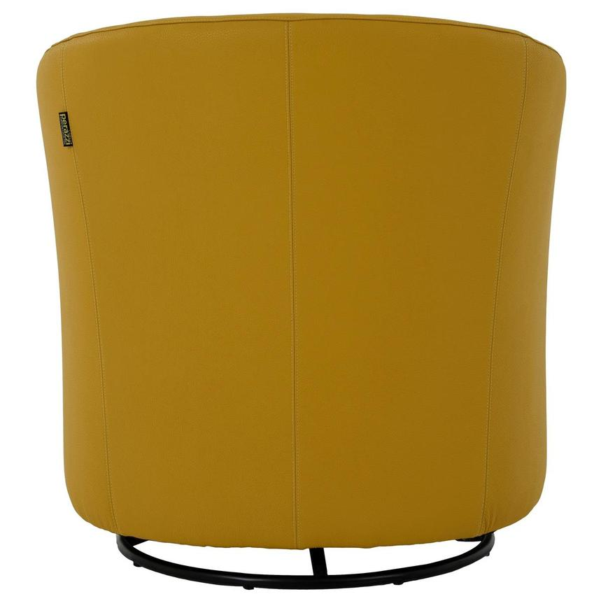 Delia Yellow Swivel Accent Chair  alternate image, 4 of 7 images.