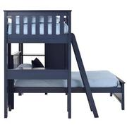 Haus Blue Twin Over Twin Bunk Bed w/Desk & Chest  alternate image, 6 of 12 images.