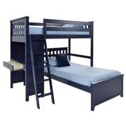 Haus Blue Twin Over Twin Bunk Bed w/Desk  alternate image, 3 of 10 images.
