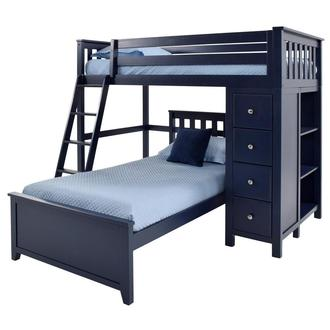 Haus Blue Twin Over Twin Bunk Bed w/Chest