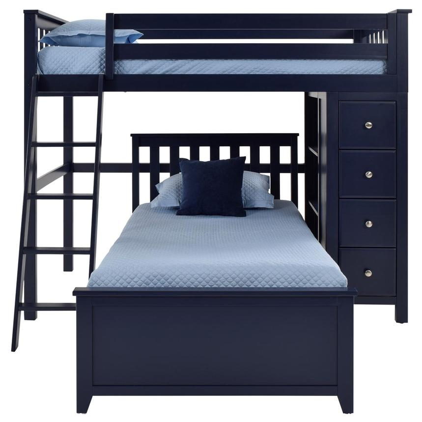 Haus Blue Twin Over Twin Bunk Bed w/Chest  alternate image, 3 of 9 images.