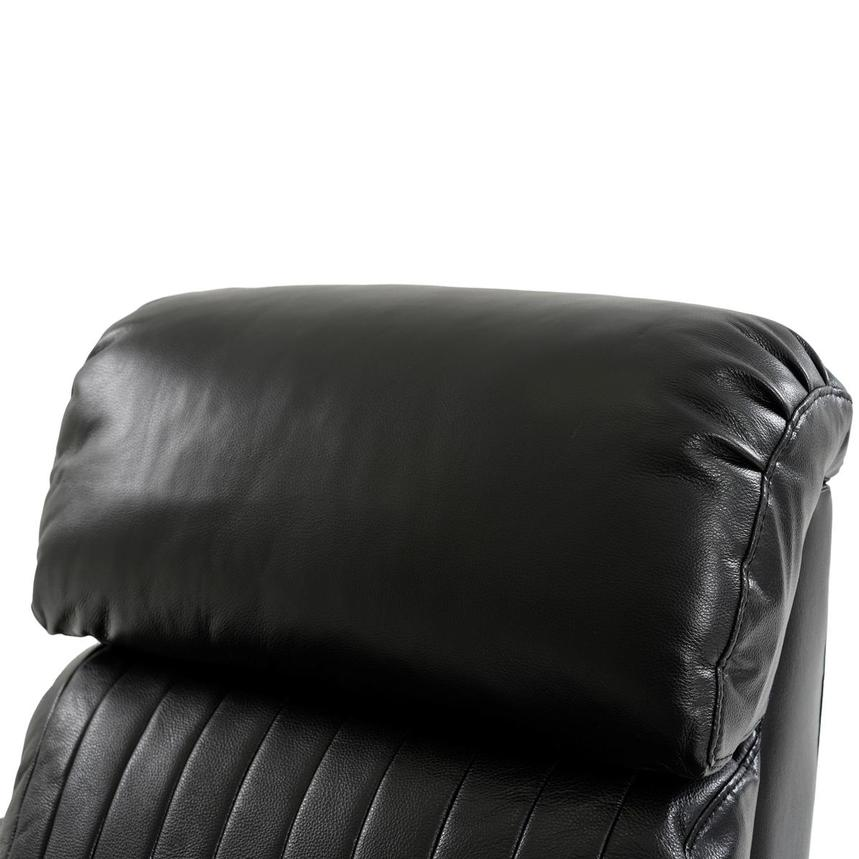 Obsidian Leather Power Recliner w/Massage & Heat  alternate image, 7 of 13 images.