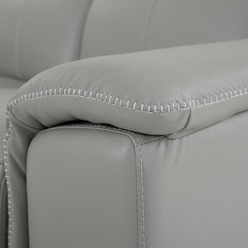 Davis 2.0 Light Gray Leather Power Reclining Loveseat  alternate image, 8 of 10 images.