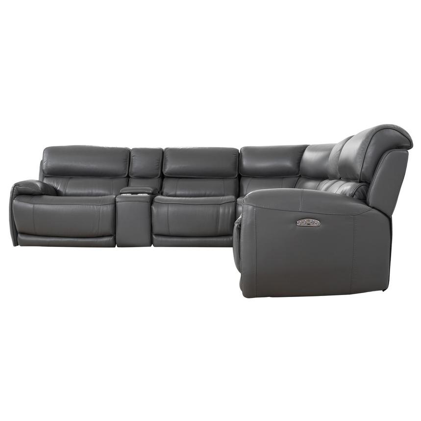Cody Gray Leather Power Reclining Sectional  alternate image, 3 of 10 images.