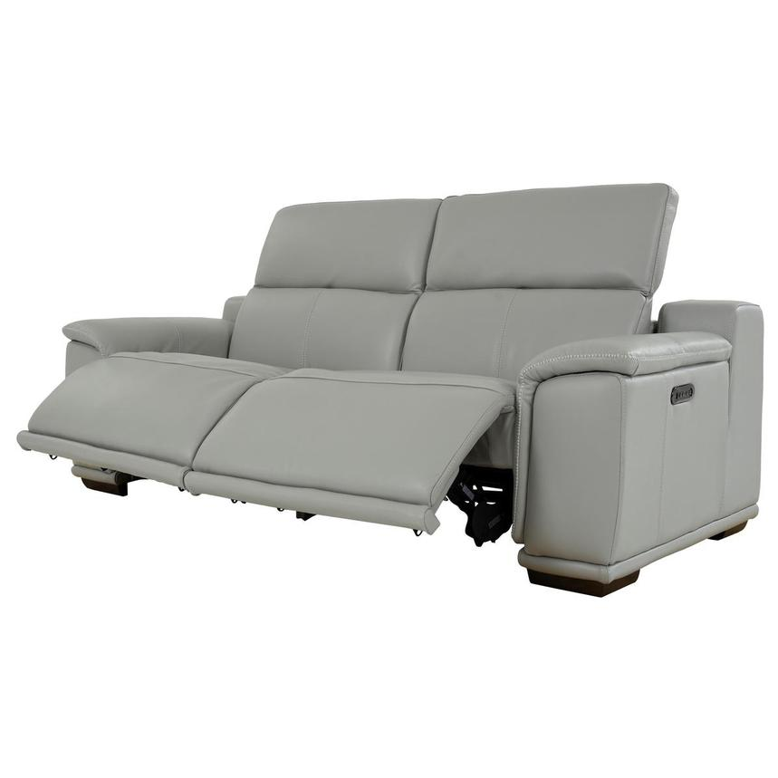 Davis 2.0 Light Gray Leather Power Reclining Sofa  alternate image, 3 of 10 images.