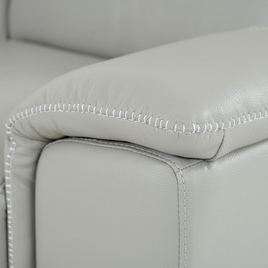 Davis 2.0 Light Gray Leather Power Reclining Sofa  alternate image, 8 of 9 images.