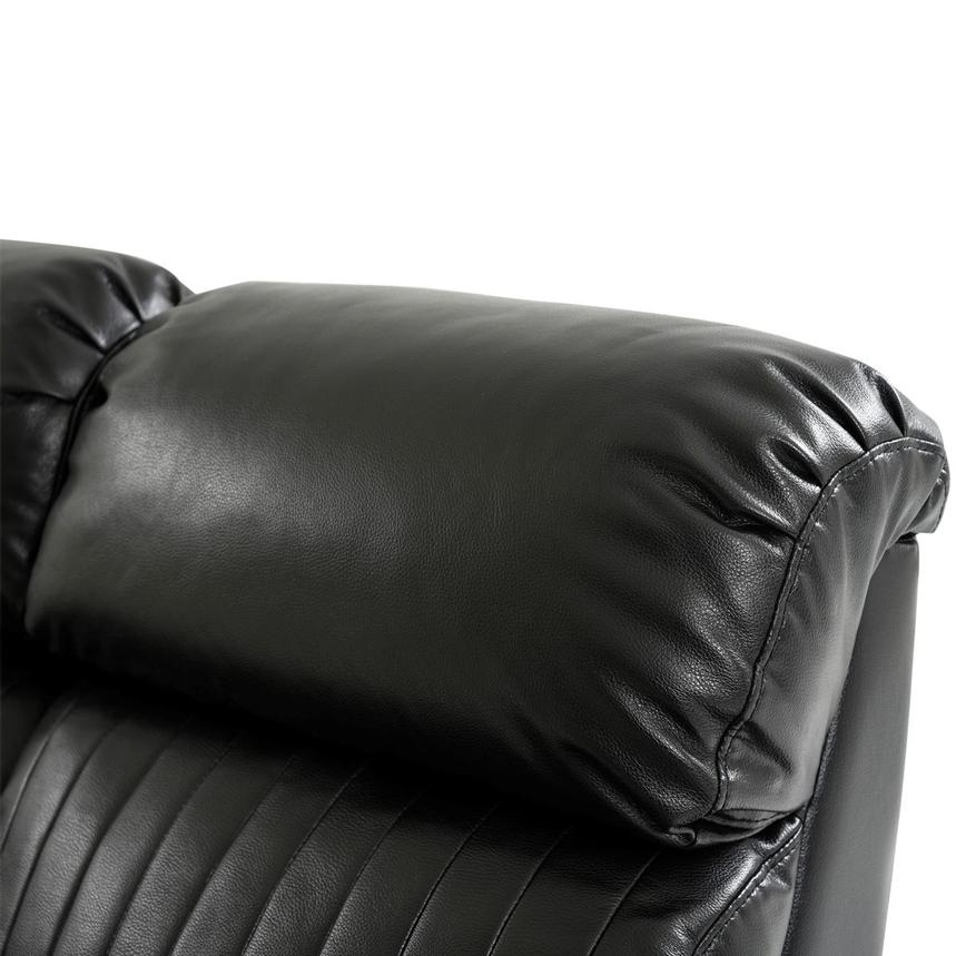 Obsidian Leather Power Reclining Sofa w/Massage & Heat  alternate image, 7 of 16 images.