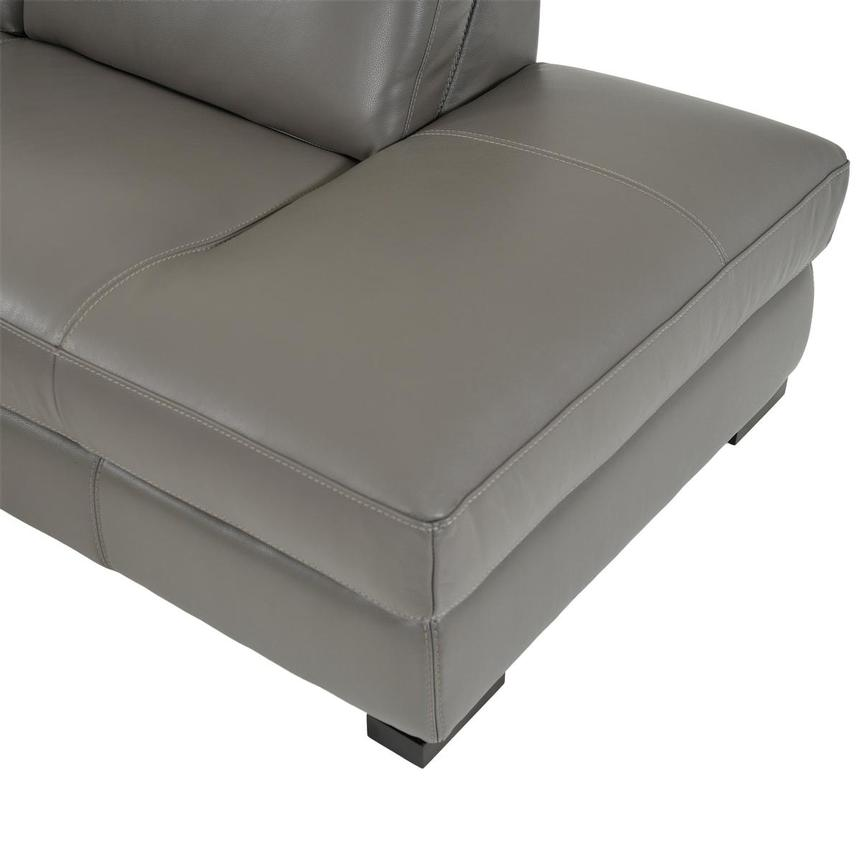 Cape Cod Leather Sleeper w/Right Chaise  alternate image, 8 of 9 images.