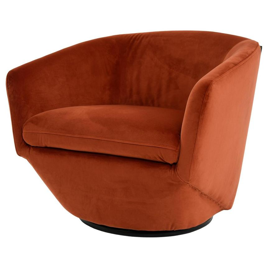 Andy Orange Swivel Accent Chair W 2 Pillows El Dorado