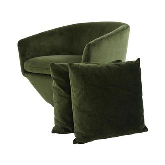 Andy Green Swivel Accent Chair w/2 Pillows