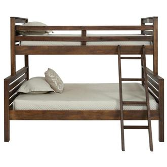 Montauk Brown Twin Over Full Bunk Bed Made in Brazil