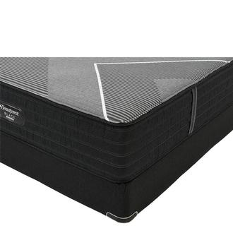 BRB-X-Class Hybrid Med. Firm Twin XL Mattress w/Low Foundation by Simmons Beautyrest Black Hybrid