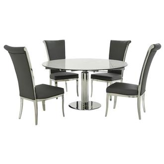 Tami Faux Mable/Joy Gray 5-Piece Formal Dining Set