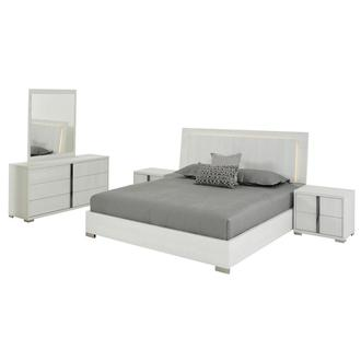 Tivo White 5-Piece King Bedroom Set