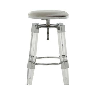 Julie Silver Adjustable Stool