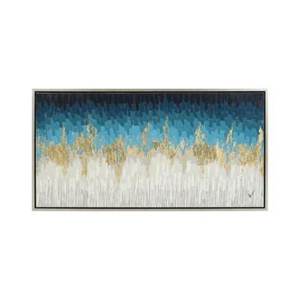 Zahara Blue Canvas Wall Art