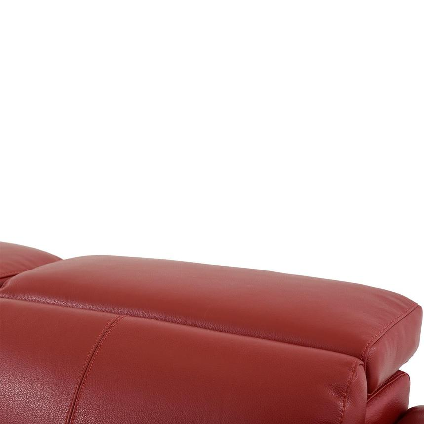 Charlie Red Leather Power Reclining Loveseat  alternate image, 8 of 12 images.