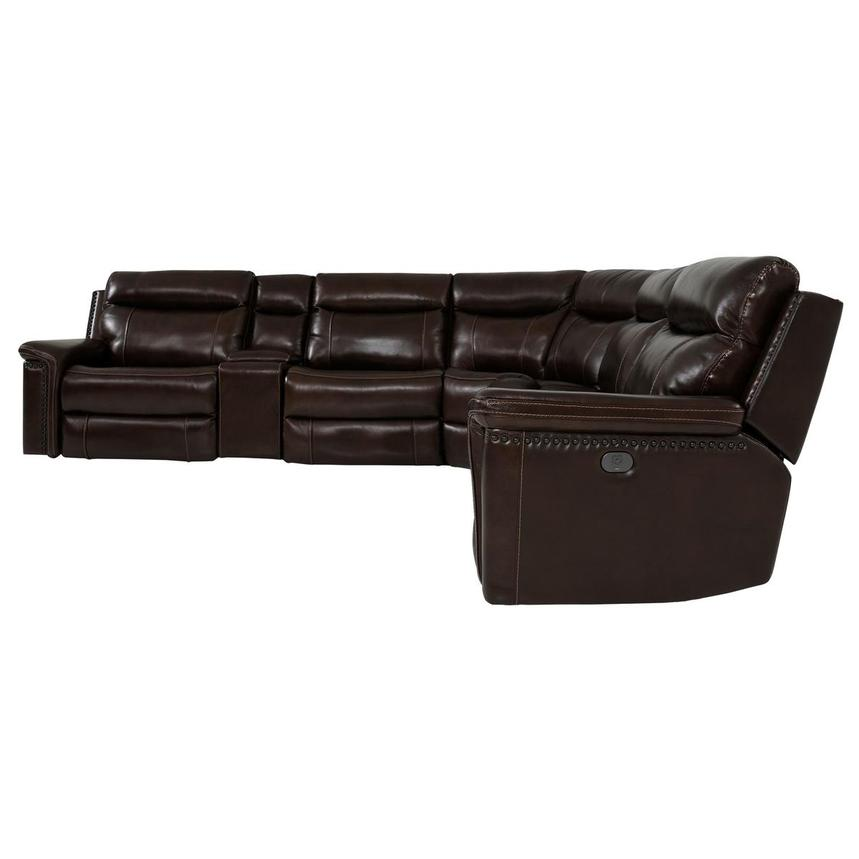 Billy Joe Leather Power Reclining Sectional  alternate image, 4 of 12 images.