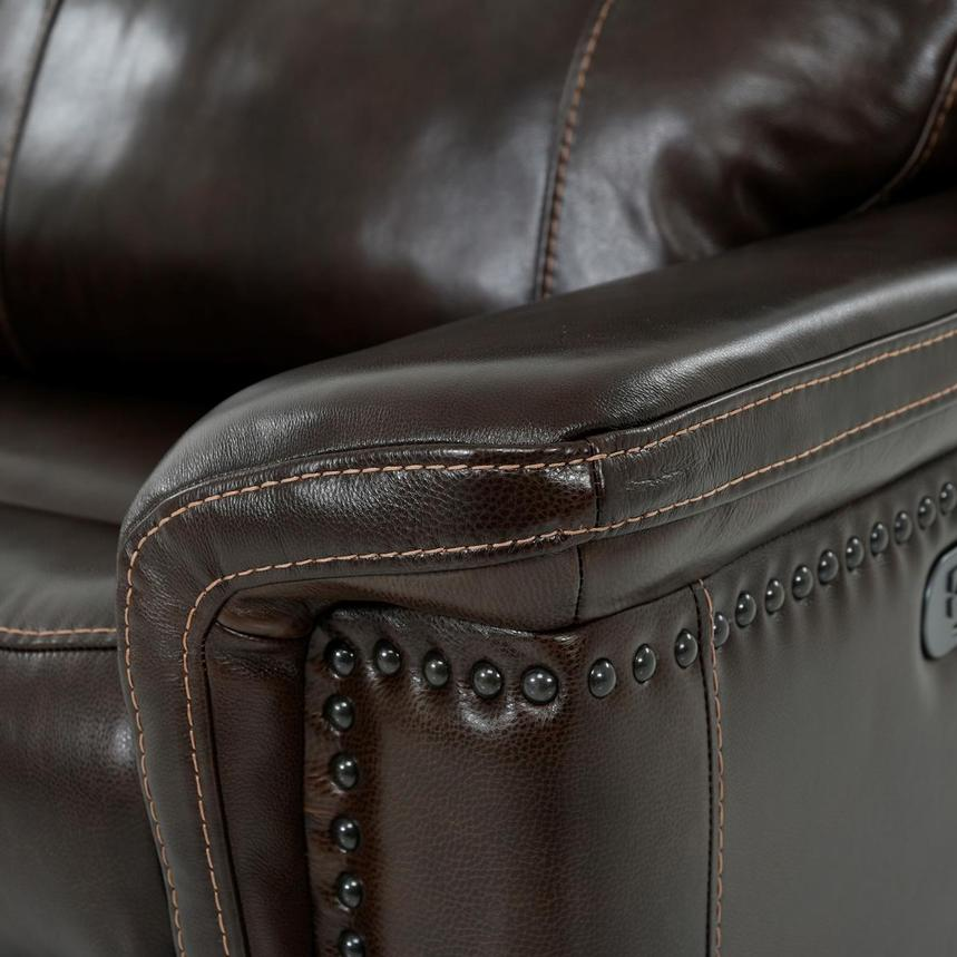 Billy Joe Leather Power Reclining Sectional  alternate image, 9 of 12 images.
