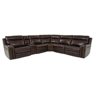 Billy Joe Leather Power Reclining Sectional