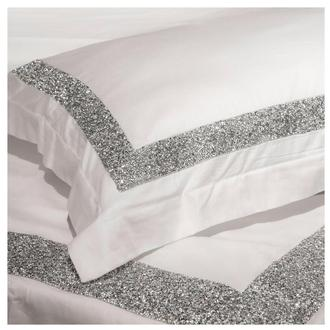 Ava White Queen Duvet Cover Set