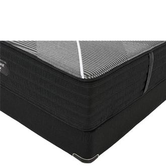 BRB-X-Class Hybrid Firm Full Mattress w/Low Foundation by Simmons Beautyrest Black Hybrid