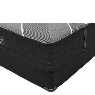 BRB-X-Class Hybrid Plush Queen Mattress w/Low Foundation by Simmons Beautyrest Black Hybrid