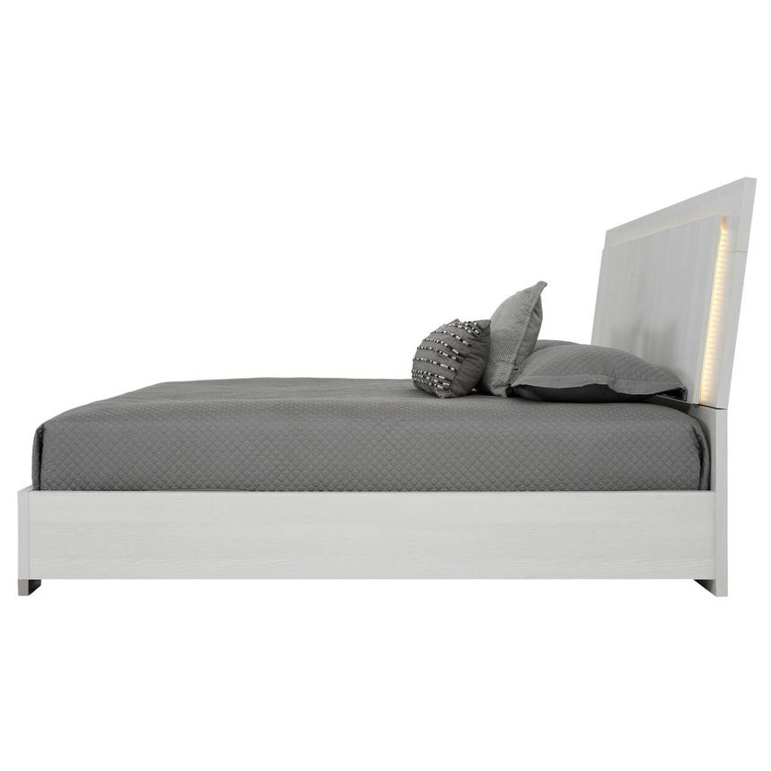 Tivo White Queen Platform Bed Made in Italy  alternate image, 3 of 6 images.
