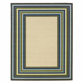 Caspian Frame 9' x 13' Indoor/Outdoor Area Rug