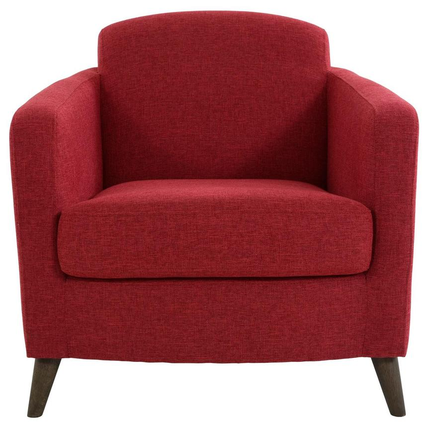 Haisley Red Accent Chair w/Ottoman  alternate image, 3 of 15 images.