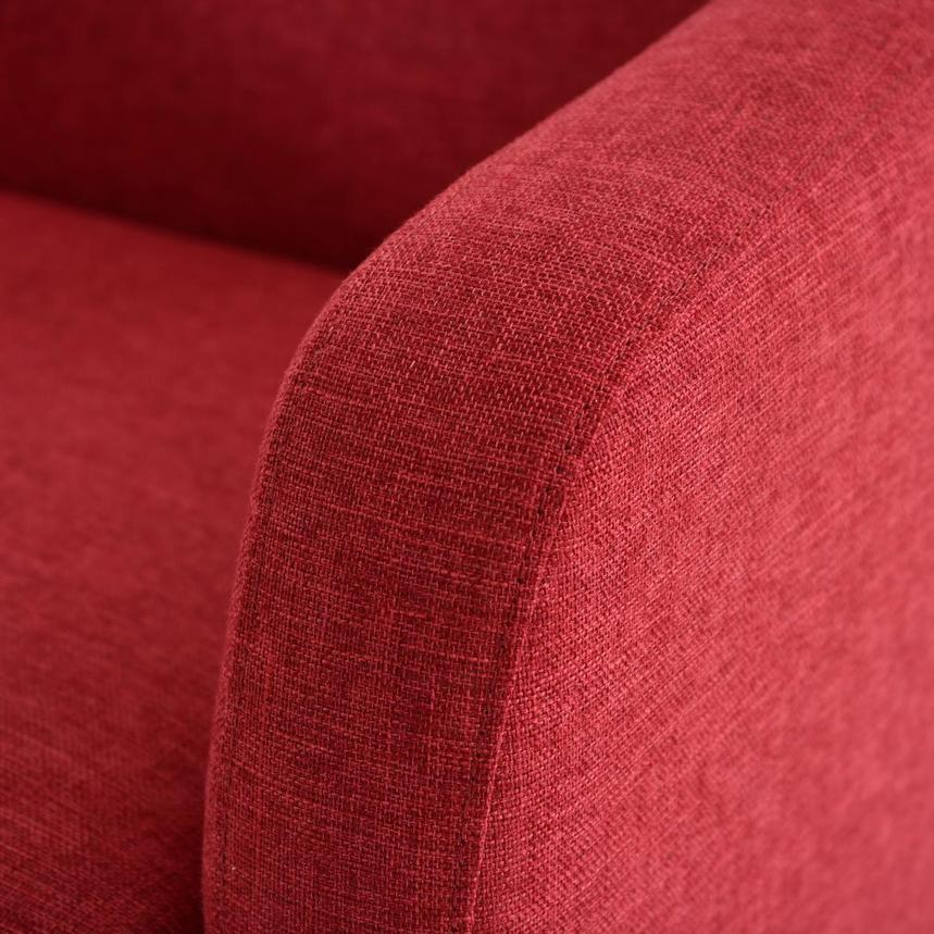 Haisley Red Accent Chair w/Ottoman  alternate image, 8 of 15 images.