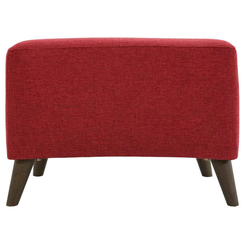 Haisley Red Accent Chair w/Ottoman  alternate image, 13 of 15 images.